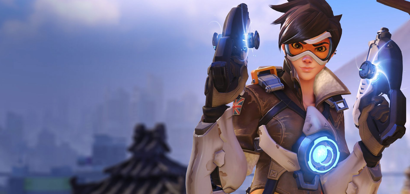 One of the characters from Overwatch dual wielding two pistols