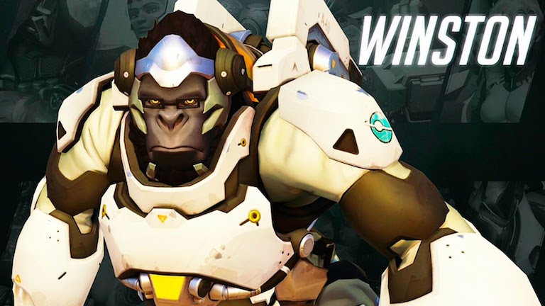 Winston, the famous ape from Overwatch