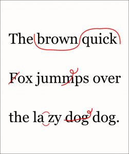 Proofreading a child's sentence
