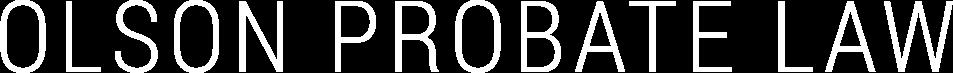 Olson Probate Law