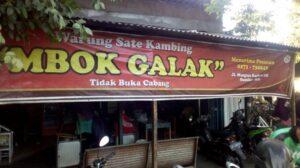 wisata kuliner khas solo Sate Kambing Buntel Mbok Galak