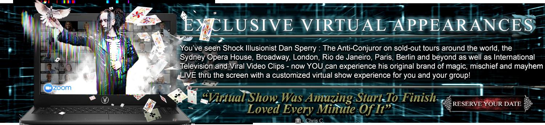 dan sperry virtual magician virtual streaming show