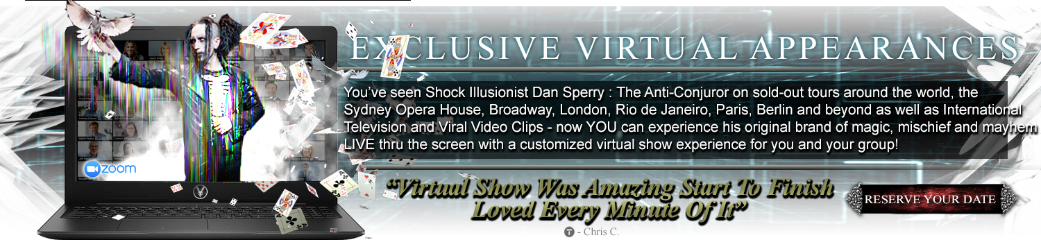 dan sperry virtual magician virtual streaming show