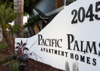 Pacific Palms Entry Sign