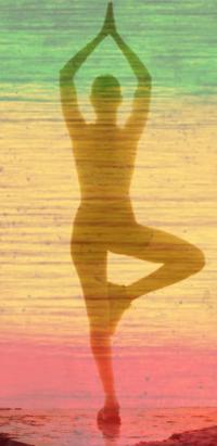 Yoga, Tree Pose, Reggae Yoga By Tre, Jamaican color scheme