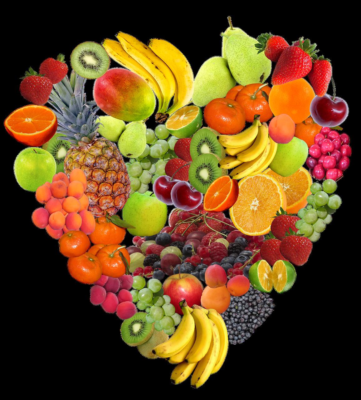 heart, fruit, isolated