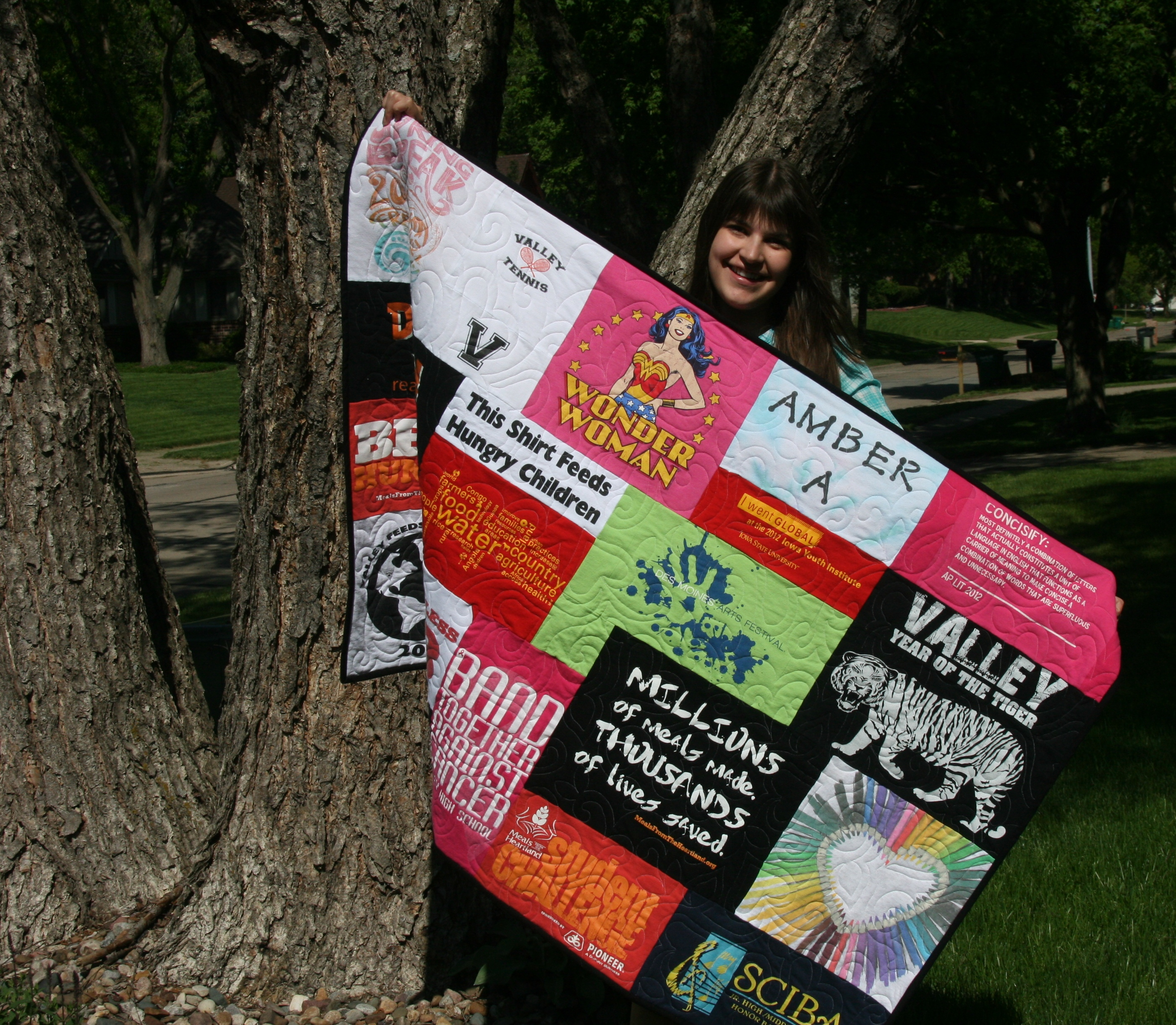 Honors student t-shirt quilt
