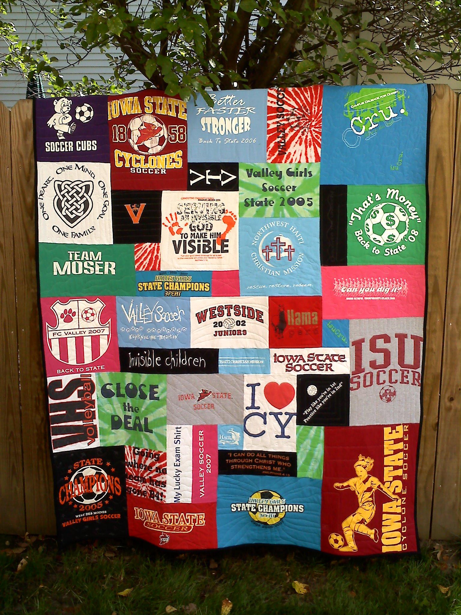 Iowa State University t-shirt quilt