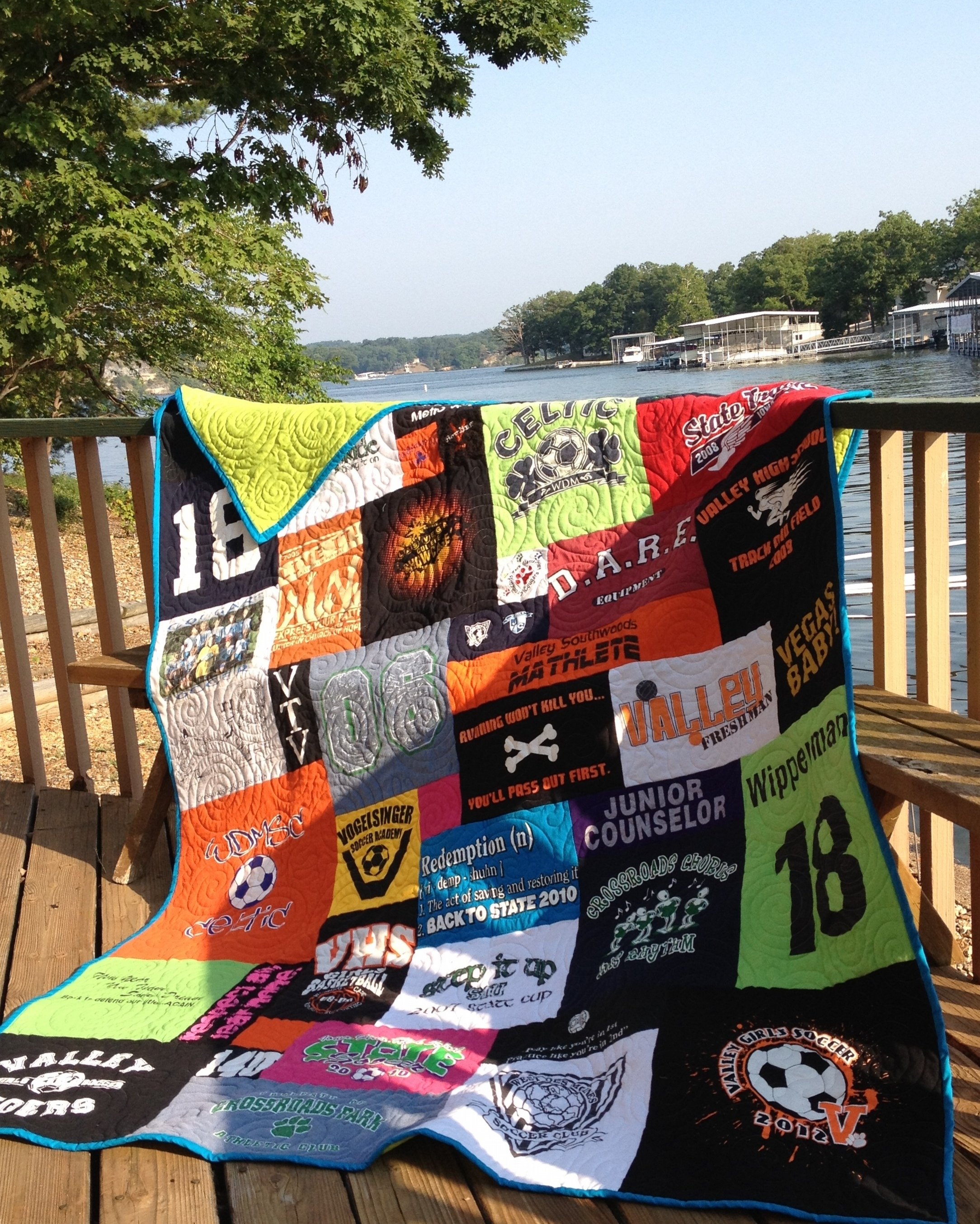 t-shirt quilt for high school graduation gift