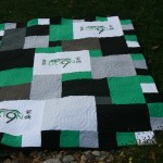 T-shirt quilt donated for Team Liston Benefit. Team Liston t-shirt quilt