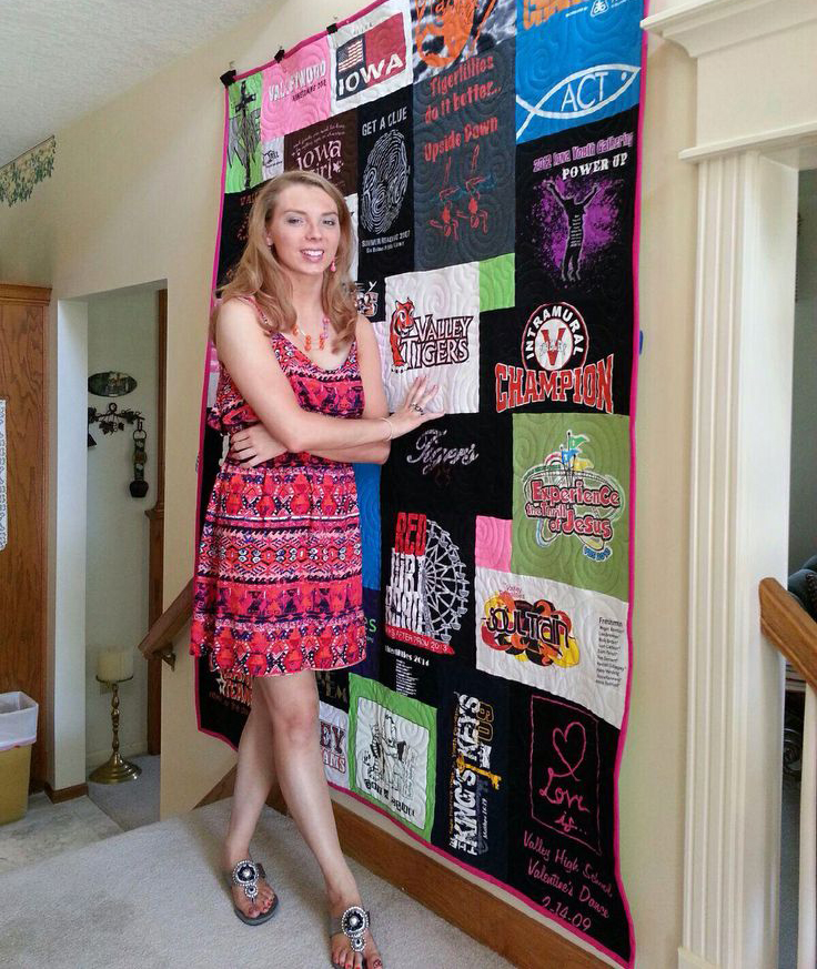 High school graduation t-shirt quilt