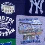 baseball t-shirt quilt, Legends Field t-shirt quilt, Yankees t-shirt quilt