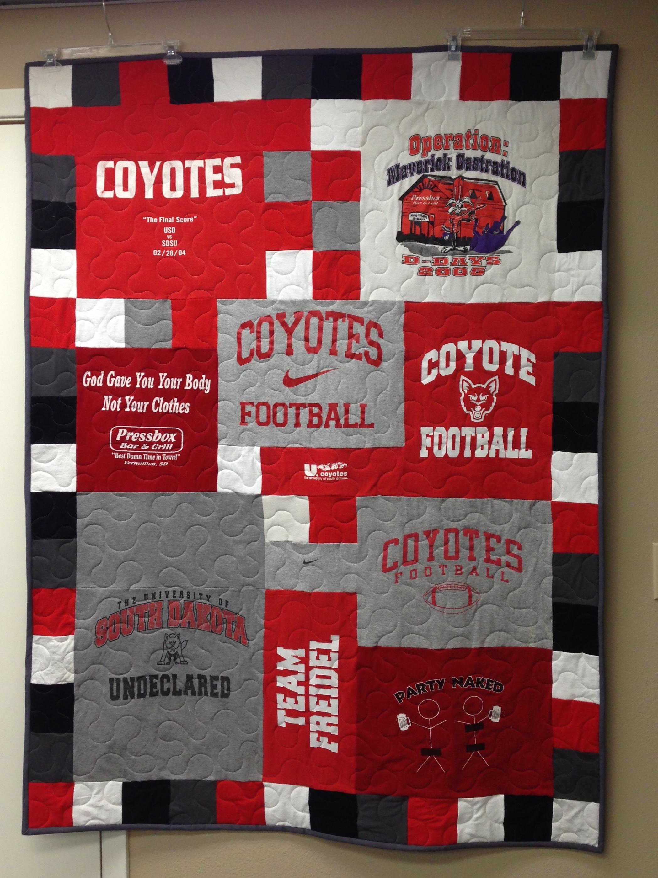 South Dakota t-shirt quilt