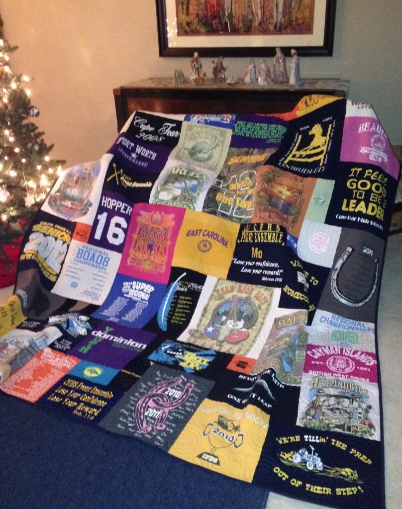 East Carolina t-shirt quilt