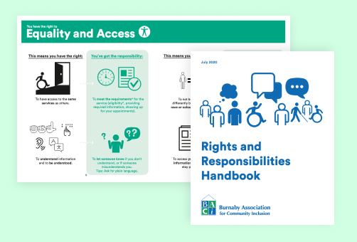 rights and reponsbility handbook front cover and inside