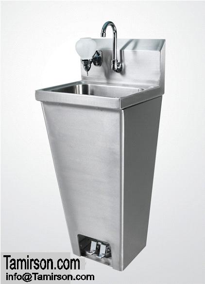 Hand Sink Floor Model Foot Pedal with soap dispenser FVSH-1000 KTI $425