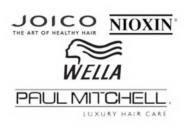RETAIL PRODUCT LINES AVAILABLE IN STORE.JOICO,PAUL MITCHELL,NIOXIN,WELLA