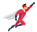Red Qixas Superhero