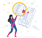 qixas superhero analyzing processes