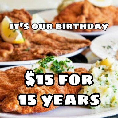 It's our Birthday! $15 Deals for 15 Years