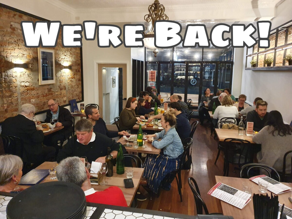 RE-OPENING FOR DINING WEDNESDAY 28th OCTOBER