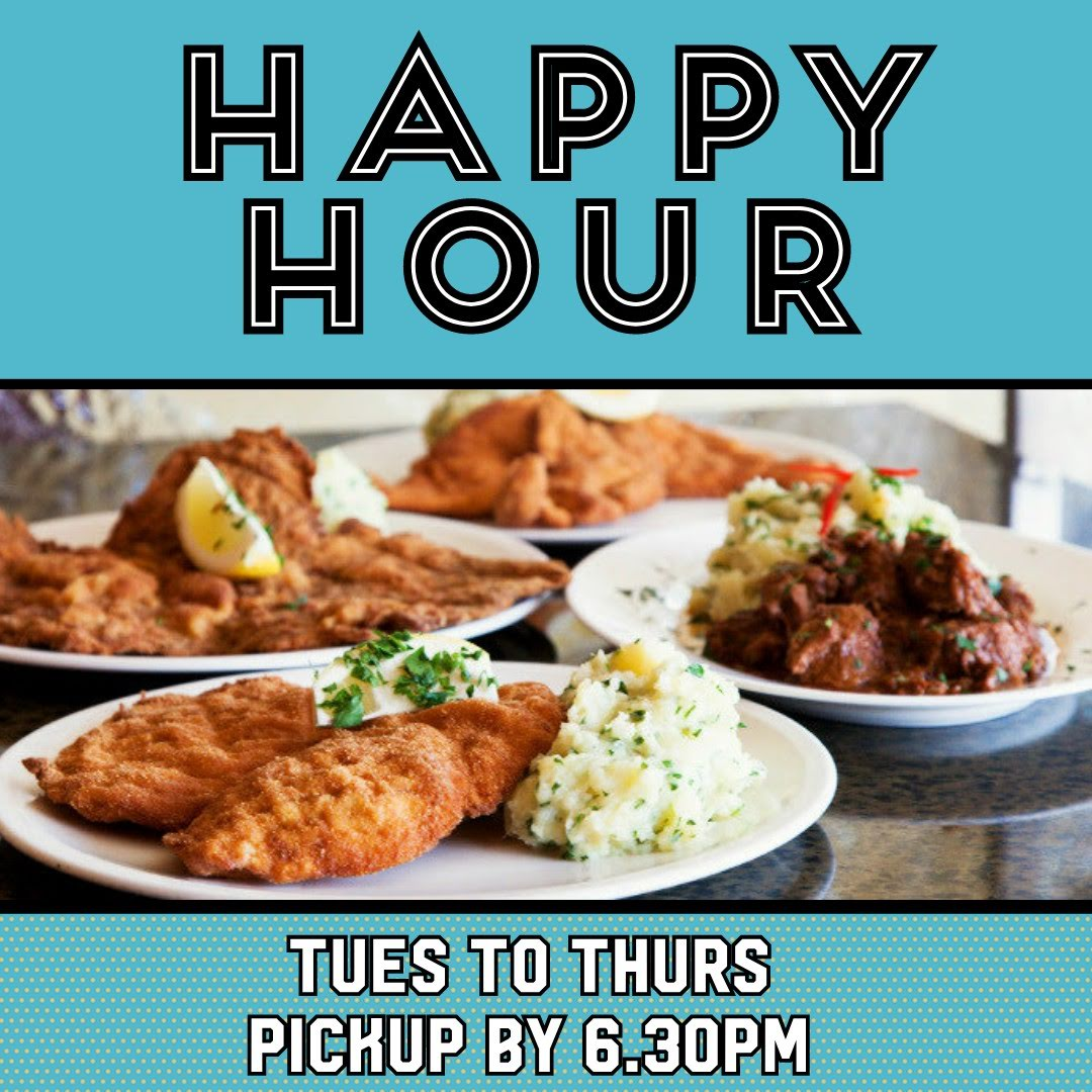 Happy Hour – Tues to Thurs during lockdown