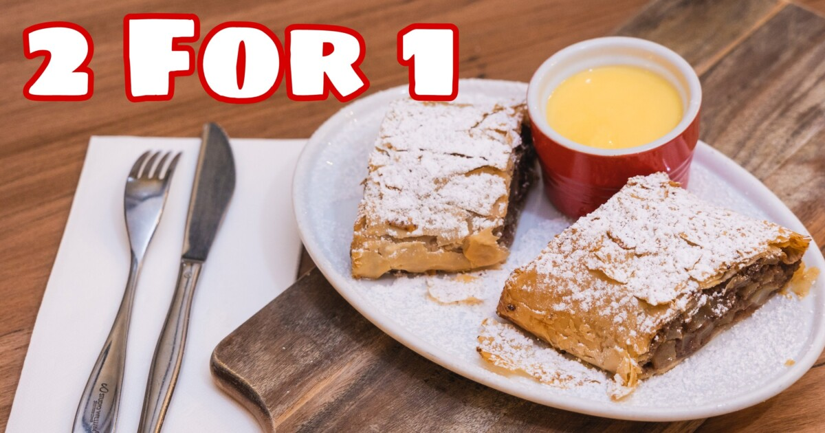 2 FOR 1 STRUDELS THIS WEEK!