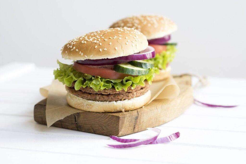 a sandwich, burger, meat