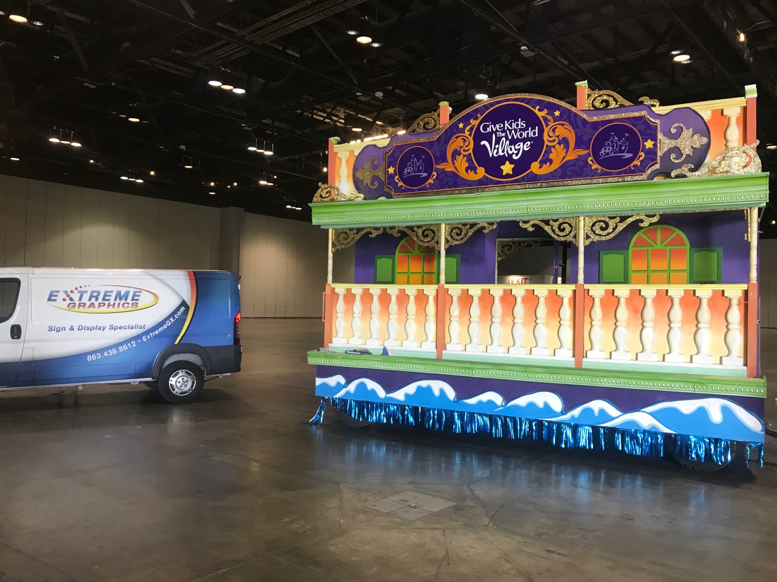 Parade Float Graphics Sign