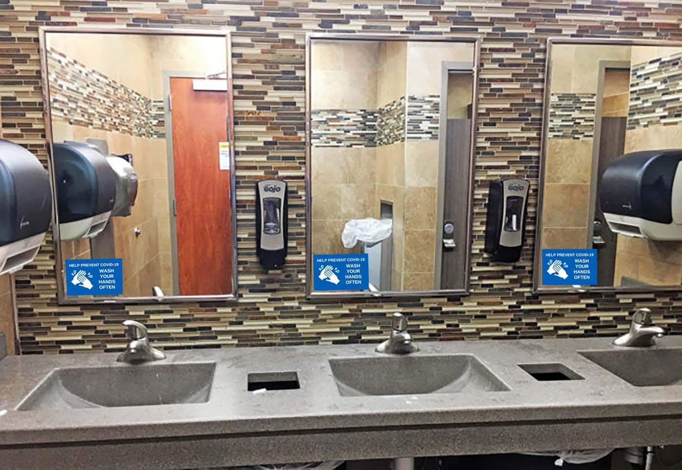 Wash Hands Decals