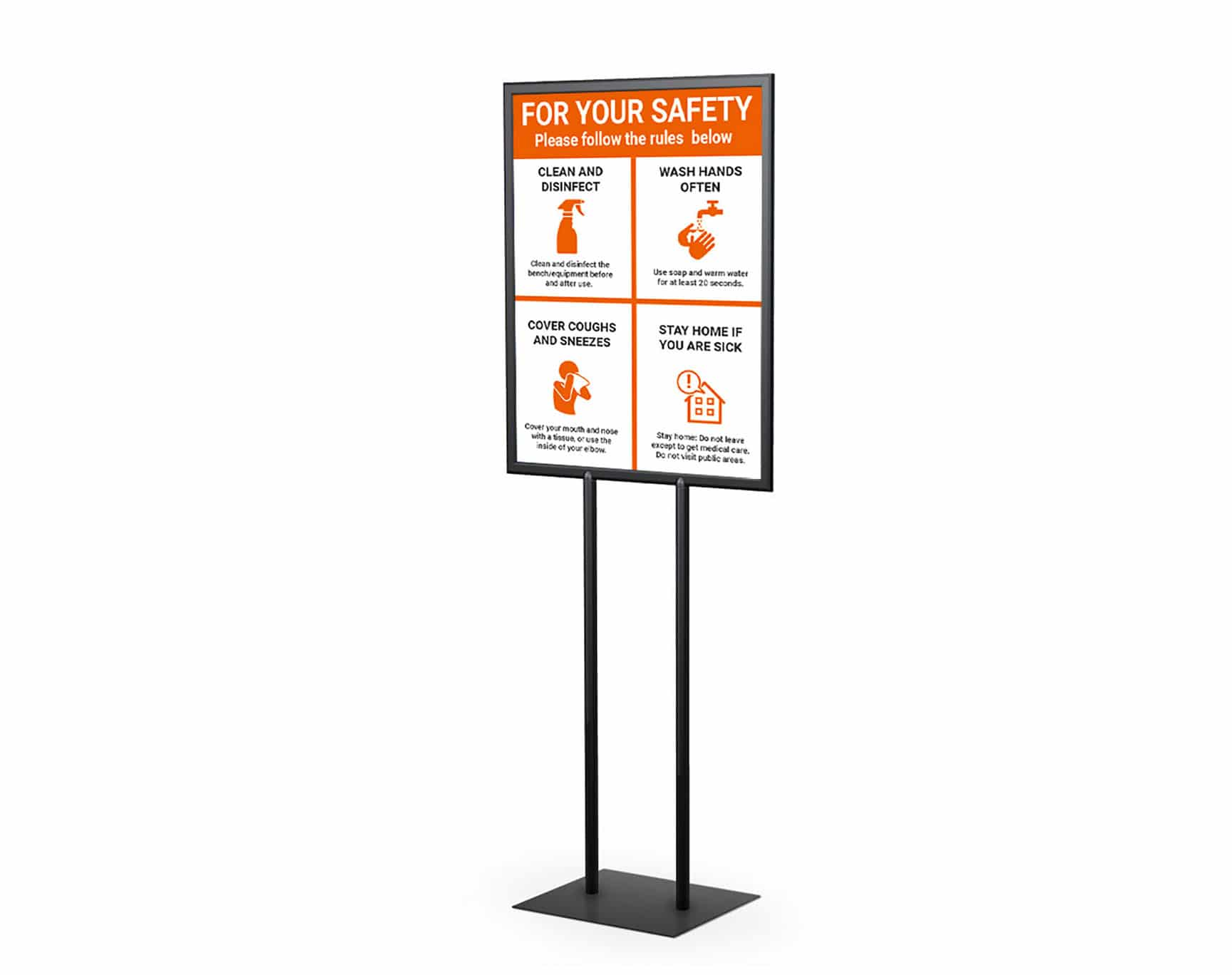 Poster Stand Graphics Sign 1