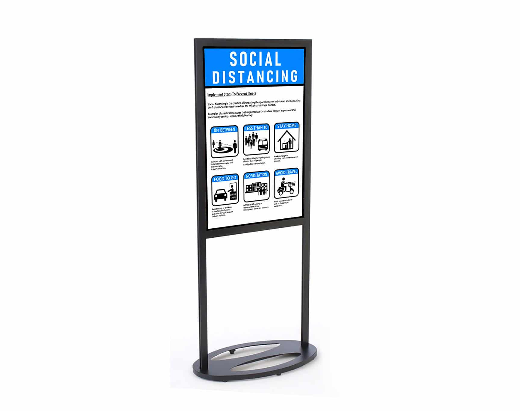 Poster Stand Graphics Sign 2