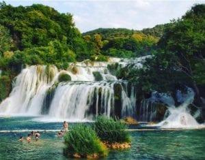 top 10 must places to visit in croatia and montenegro - Waterfalls at Krka National Park in Croatia