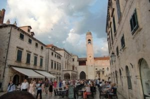 top 10 must places to visit in croatia and montenegro. The inner walls of old town Dubrovnik in Croatia