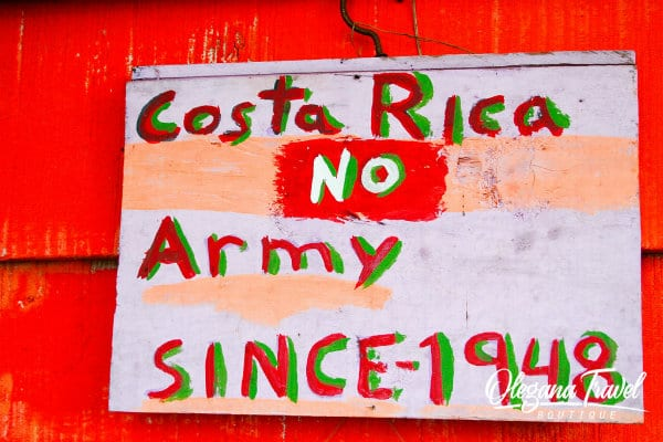 Only 23 countries in the world have no army. Costa Rica is one of them!