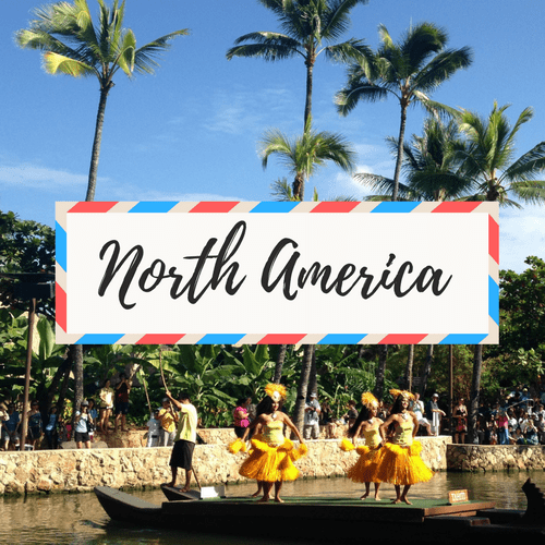 """image of Hawaii- with large text in the middle that says """"North America"""""""