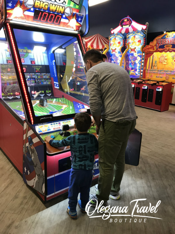 Yes, it was hard to get them to leave the arcade at Kalahari!