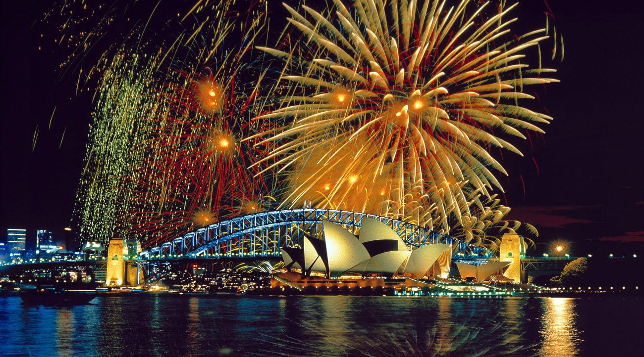 Sydney New Year's Eve Fireworks over Opera House