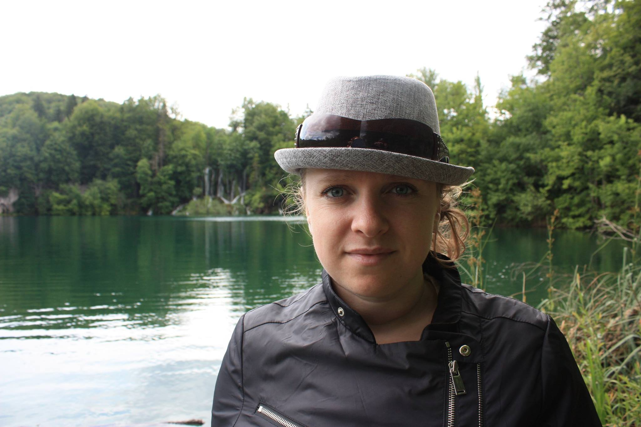 Image of Anna, owner of Olegana Travel Boutique, at Plitvice Lakes National Park in Croatia