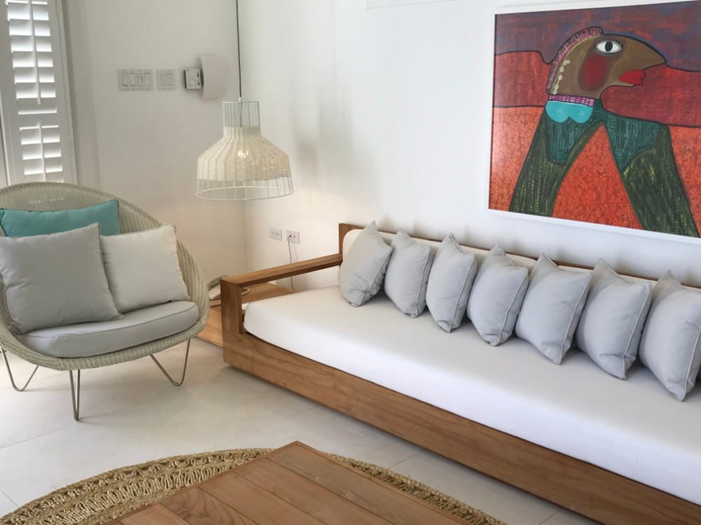 Living Room of the Spa Villa at Couples Tower Isle Resort