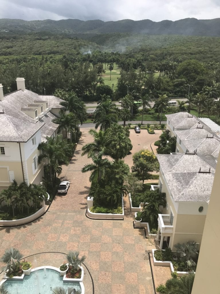 View of Jamaica Blue Mountains from the balcony of Jewel Grande Montego Bay