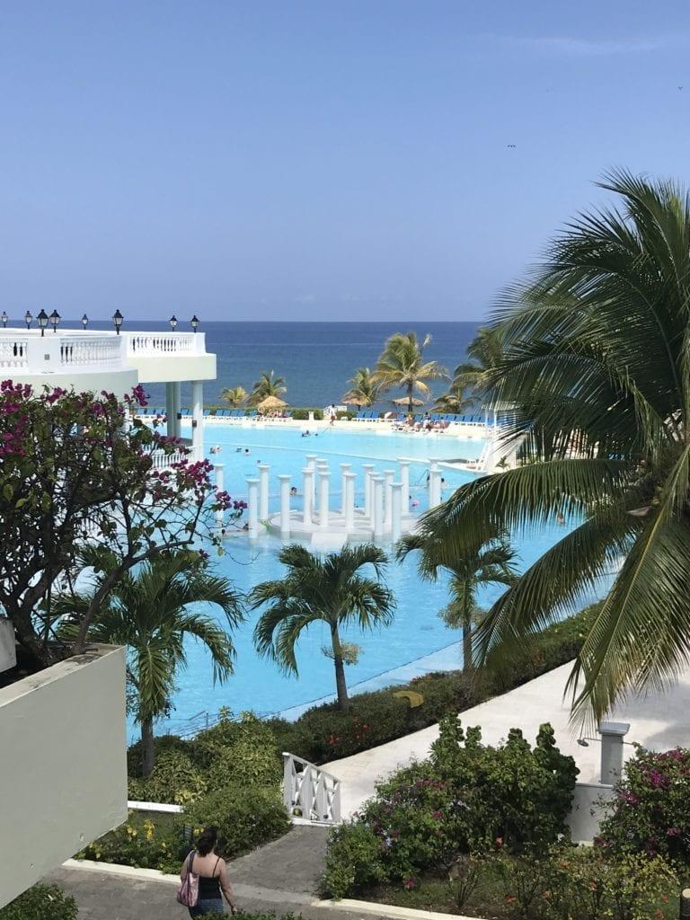 Birds eye view of the pool at Grand Palladium Jamaica and Lady Hamilton