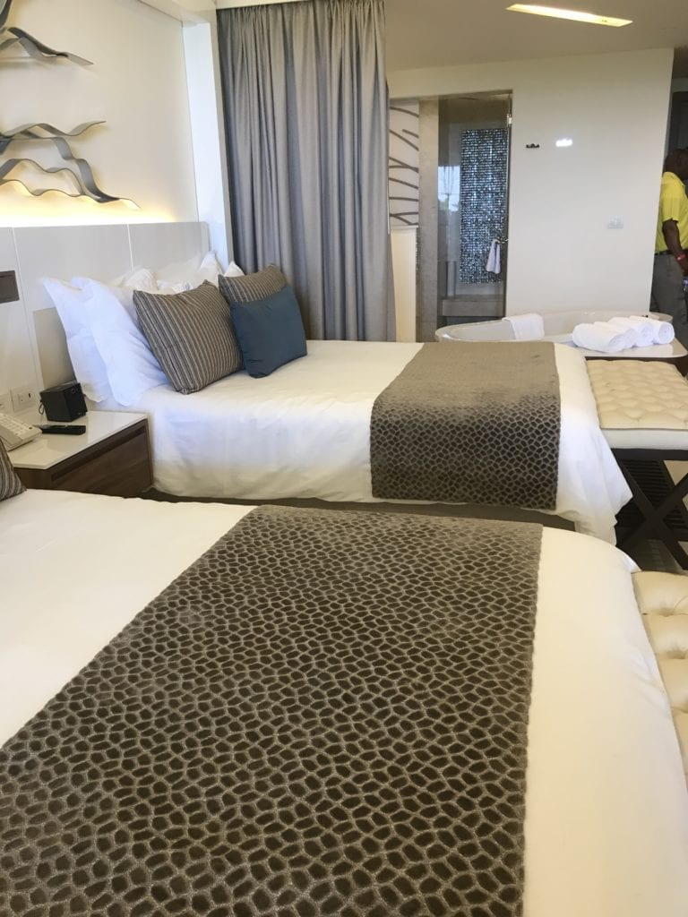 Two beds in a suite at the Royalton Negril