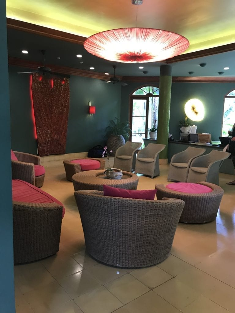 Inside a lounge area in Couples Swept Away - Negril