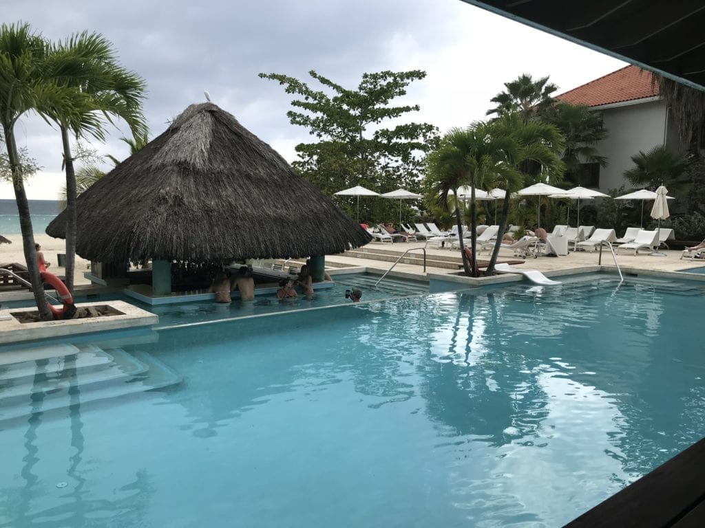Pool side view at Couples Swept Away
