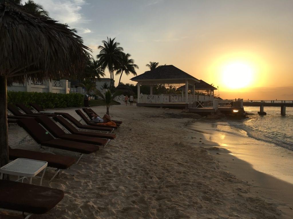 Sunset at Hyatt Ziva and Zilara Rose Hall, Jamaica