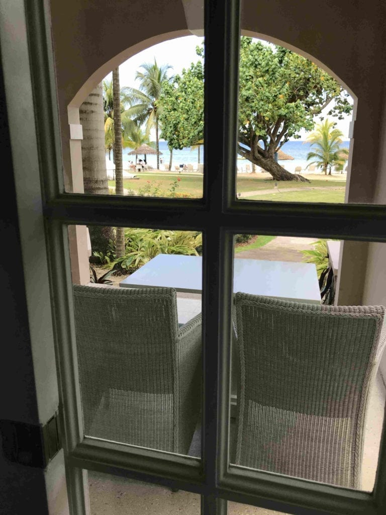View from the renovated beachfront suites at Couples San Souci Adults Only Resort, Ocho Rios, Jamaica