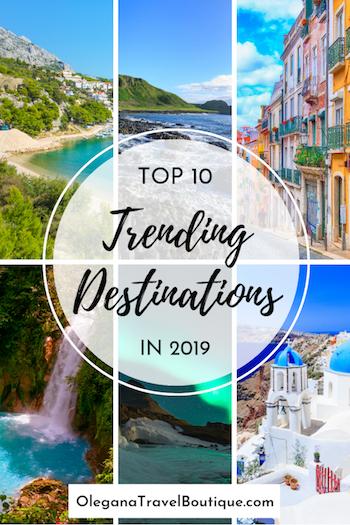 2019 Top 10 Trending Destinations