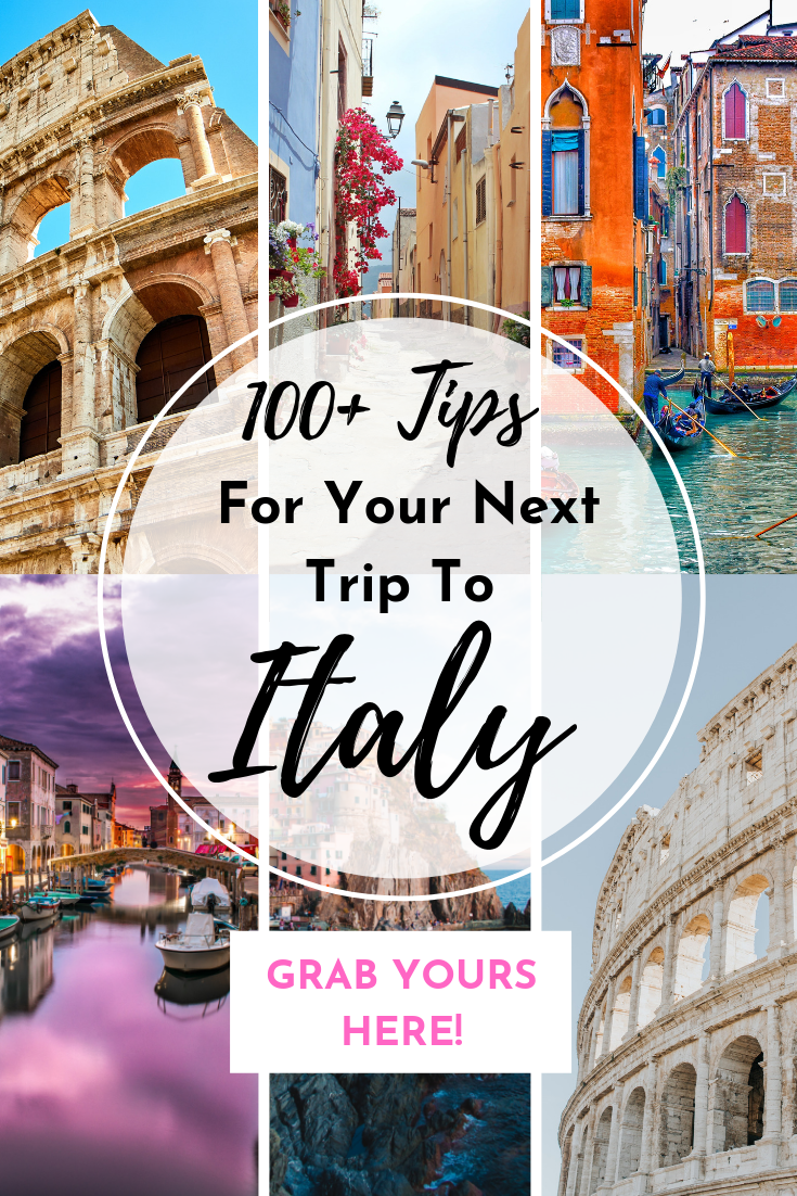 100 tips for your next trip to Italy flyer