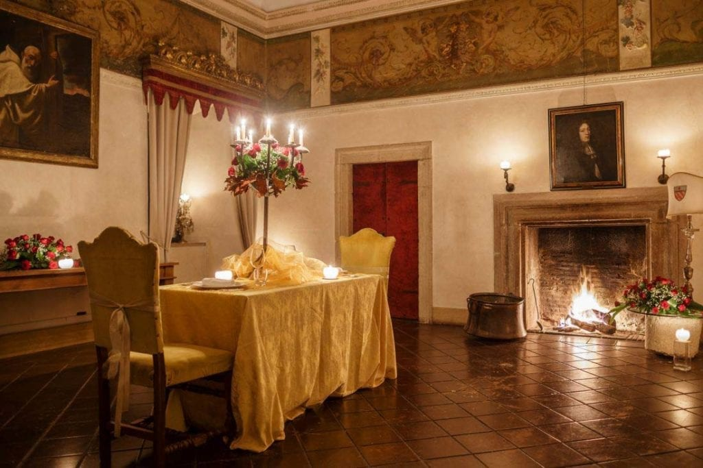Romantic Castle Hotel Outside of Rome, Italy for Valentine's Day
